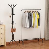 单杆式室内晾衣架落地折叠挂凉衣服架子晾衣杆活动晒被子�鹇臃�