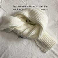 韩版羊绒小围巾简约保暖冬季围巾女士休闲纯色学生情侣围脖围巾潮