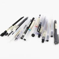 日本无印良品文具MUJI 黑笔 笔芯中性笔水笔��哩笔圆珠笔毛笔