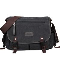 男包单肩包旅行用包斜跨行李包学生横款户外休闲男士大容量帆布包
