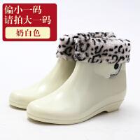 创意便捷雨鞋短筒雨靴女士套鞋水靴防水鞋女外穿透明胶鞋夏生活日用雨具 棉套
