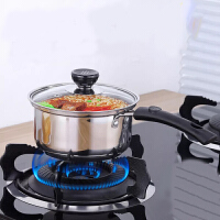 304不锈钢单柄奶锅婴儿煮粥迷你小锅电磁炉燃气炉锅具16cm单柄煮面锅