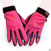手套 女士骑行手套 户外运动手套 女士触摸屏自行车手套 耐磨透气防滑运动户外骑行手套