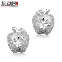 相思树 苹果耳钉 纯银女耳环耳饰 生日圣诞礼品韩国可爱925银饰品 ED018