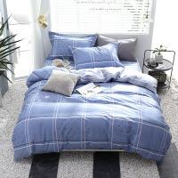 纯棉四件套全棉简约床单被套件床品4件套1.5m床1.8米床套件