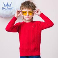【3.5折价:83.65元】souhait水孩儿童装春季新款男童针织衫时尚圆领针织衫儿童针织衫