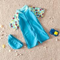 泳衣男童泳裤 女童游泳衣连体宝宝防晒女孩婴儿温泉泳衣套装