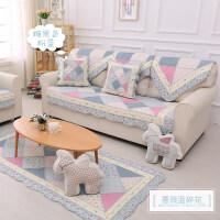 欧式田园布艺沙发垫子四季通用加厚坐垫 防滑靠背巾套罩定制