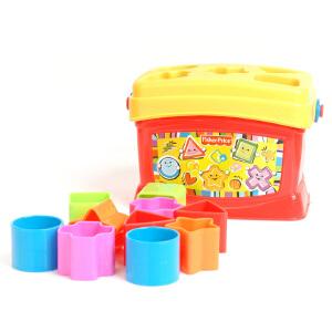 费雪 启蒙塑料积木盒 形状配对儿童玩具 婴幼儿益智玩具K7167