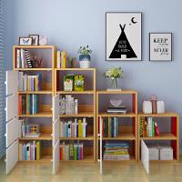 亿家达书柜带门简约现代自由组合储物柜经济型书架简易家具置物柜