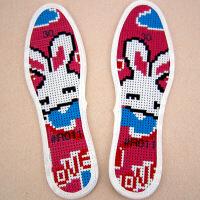 儿童十字绣鞋垫 棉6层精准印花半成品手工刺绣小孩卡通男孩女孩鞋垫子