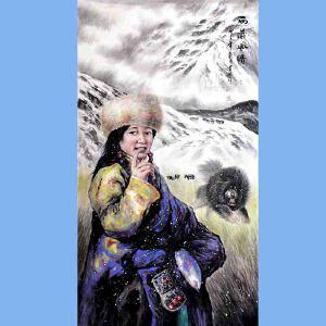 中国青年美术家协会常务理事,中国扇子艺术学会会员,中国山水画院专业画家,山东美术家协会会员,国家一级美术师高云鹏(西藏风情)