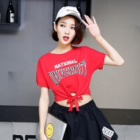 韩版宽松现代舞蹈练功服长袖爵士舞服装女新款练习服课堂集训服潮