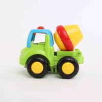 工程车队儿童惯性车玩具模型汽车 耐摔卡通环保宝宝益智套装