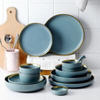 光一家用欧式ins风格好看的盘子创意个性陶瓷网红餐具简约西餐盘菜盘