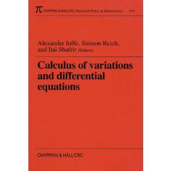 【预订】Calculus of Variations and Differential Equations 美国库房发货,通常付款后3-5周到货!
