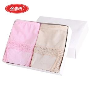 2条装 金丰田竹纤维女内裤 竹纤维蕾丝女士内裤 2033