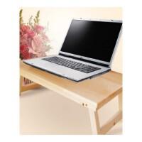 笔记本电脑桌懒人桌床上用宿舍可折叠学生书桌写字小桌子实木简约