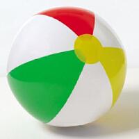 INTEX四色沙滩球59010/59020/59030 海滩球 透明充气球 3种尺寸