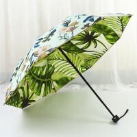 森系创意双层太阳伞黑胶防晒遮阳伞折叠晴雨伞女清新