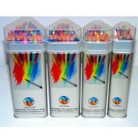 高尔乐KUELOX水溶彩色铅笔 12 24 36 48色三角金属桶装水溶彩铅