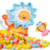 儿童手工制作材料包diy幼儿园创意立体贴画粘贴画毛球画玩具