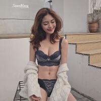 绒面蕾丝聚拢小胸文胸性感胸罩聚拢调整型内衣女