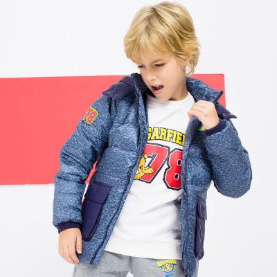 【到手价:95元】加菲猫童装儿童羽绒服男女童GJD17569 中性款 颜色区分男童女同款