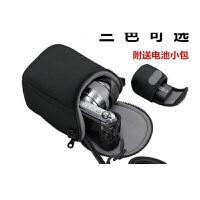 适用于SONY索尼ILCE-6300L 6300 6000微单相机包 16-50mm 便携保护套 黑色 送清洁布+防丢