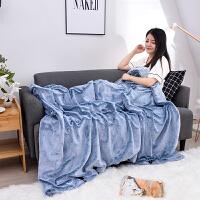 君别多功能兔兔绒毛毯小被子单人双层加厚冬季毯子空调毯午睡沙发盖毯