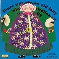 【现货】英文原版 儿歌洞洞书:吞下苍蝇的老奶奶(纸板书) There Was an Old Lady Who Swal