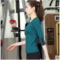 韩系瑜伽t恤女长袖瑜珈服跑步运动服上装大码显瘦健身服上衣