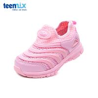 Teenmix/天美意童鞋18春夏款毛毛虫运动鞋中小童网面跑步鞋DX0377