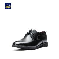 HLA/海澜之家舒适正装皮鞋2019春季新品有型系带透气鞋子男