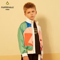 马克华菲童装商场同款男童夹克19春新款印花上衣儿童韩版洋气外套