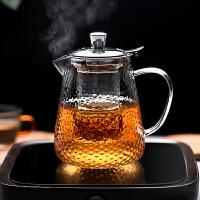 光一日式锤纹玻璃茶壶泡茶煮茶器耐高温防爆过滤加厚水壶茶杯茶具套装