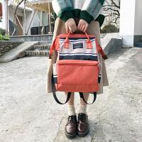 书包女双肩包韩版学院风休闲手提学生包旅行时尚背包妈咪包