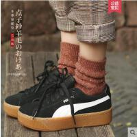 羊毛袜女加厚网红时尚潮流保暖袜日系复古袜子女中筒袜毛线袜羊绒袜长袜户外新品