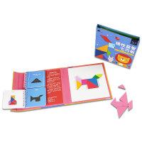 磁力七巧板智力拼图一年级儿童益智玩具小学生用智力开发教具磁性