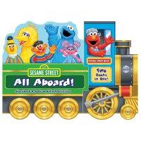 Sesame Street: All Aboard! 英文原版 芝麻街发车啦 纸板翻翻书