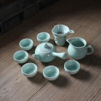 龙泉青瓷 功夫茶 陶瓷整套茶具 茶海 茶杯 创意壶 长把壶