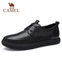 camel骆驼男鞋 秋季新款商务休闲皮鞋牛皮柔软系带商务办公皮鞋