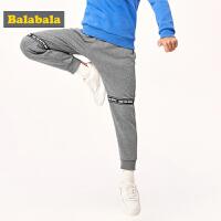 巴拉巴拉男童加绒裤子2019新款冬装中大童时尚保暖运动裤儿童长裤