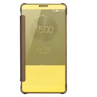 坚达 手机壳保护套 手机壳镜面 翻盖皮套 适用于华为mate7 保护套mate7-cl00/tl10保护套