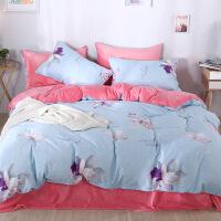 商场同款床上四件套棉棉被套珊瑚绒加绒加厚冬季法兰绒床单ins风少女