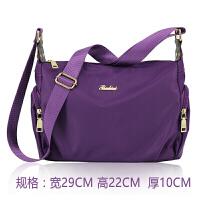 尼女包斜挎包 休闲包包 水牛津布包帆布旅行单肩包潮 紫色 包包可以洗水