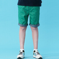 【两件1.3折价:26元】英格里奥童装夏装新款男童松紧腰休闲裤男童短裤LLB575