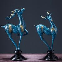 鹿摆件欧式家居装饰品 客厅新婚结婚酒柜创意