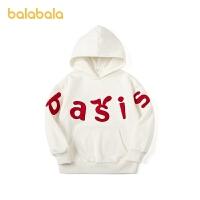 【3件4折:87.6】巴拉巴拉�和��l衣加�q2020新款女童秋冬童�b大童�n版��松�B帽上衣