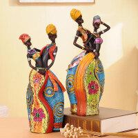 摆件人物装饰品非洲风格礼物客厅新房礼品家居电视柜摆设书房装饰